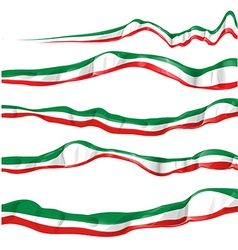 italian flag set isolated vector image