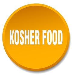 Kosher food orange round flat isolated push button vector