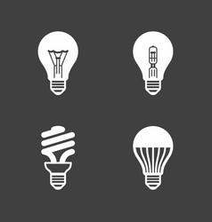 light bulb icons standard halogen incandescent vector image