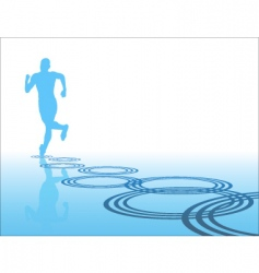lone runner vector image