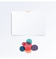 Mock up template with abstract circles vector image