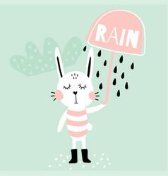 Rain bunny vector