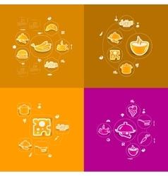 Restaurant sticker infographic vector