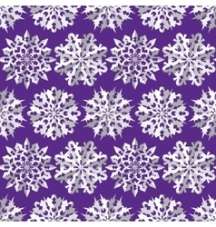 Seamless christmas origami snowflake pattern vector