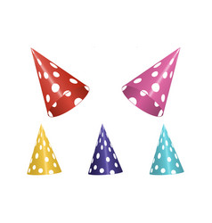 set of colorful birthday hats vector image vector image