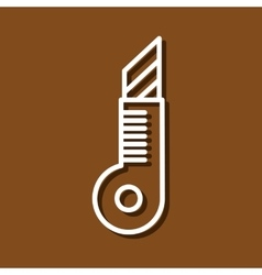 Stationery knife vector image