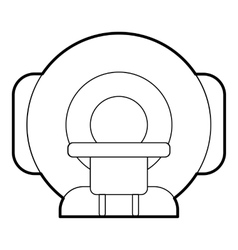 Tomograph icon outline style vector