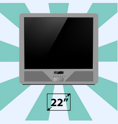Tv screen retro monitor template electronic device vector