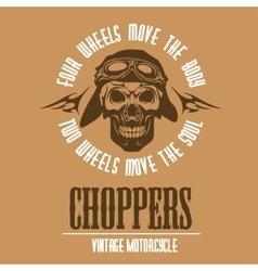 Vintage Motorcycle label Retro chopper bike vector image