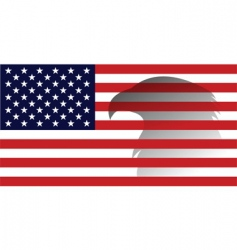 American flag with eagle image vector image