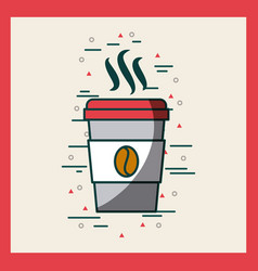 Disposable coffee cup image poster vector