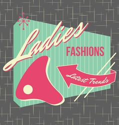 1950s storefront style logo design vector
