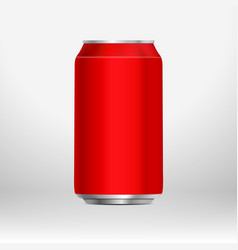 Red can template vector