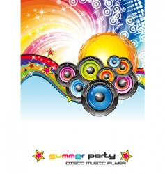 Music dance flyer vector