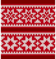 Two knitted patterns with nordic stars vector image
