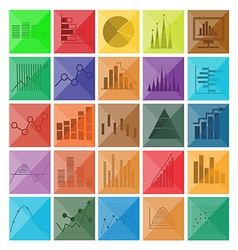 Graph and diagram for business icons vector