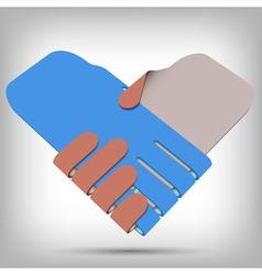 3d Paper Handshake vector image vector image