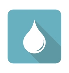 Square water drop icon vector