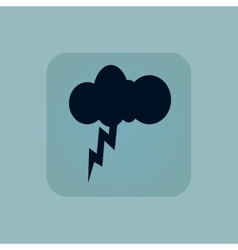 Pale blue thunderstorm icon vector