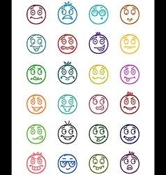24 smiles icons set 3 vector