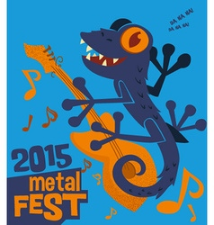 Cartoon animal music festival design vector