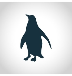 Penguin black silhouette vector