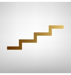 Stair up sign flat style icon vector