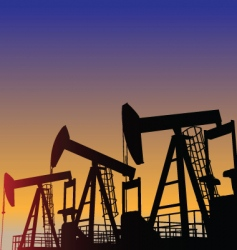 oil wells vector image