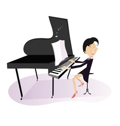 Pianist woman vector image