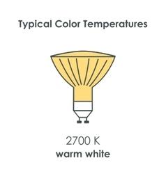 Halogen light yellow bulb vector