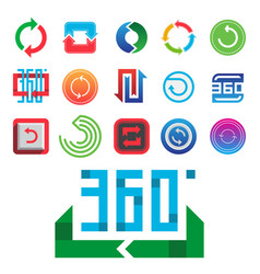Angle 360 degrees web icons shape mark vector