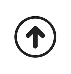 Arrow up icon forward arrow sign vector