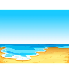 Beautiful view of the sea vector image vector image