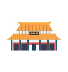 Classic chinese style house simplified icon vector