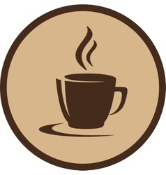 coffee cup in frame vector image