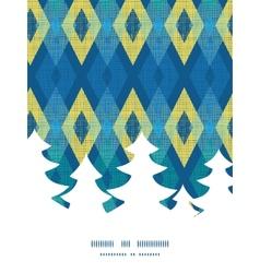 Colorful fabric ikat diamond christmas tree vector