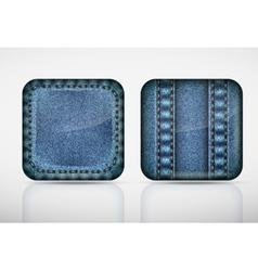 Denim application icons texture jeans vector