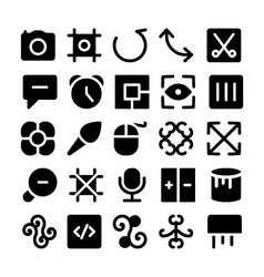 Design and Development Icons 12 vector image vector image