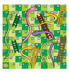 Green snake and ladder game vector