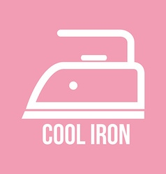 Ironing instructions vector