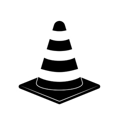 Isolated construction cone vector image