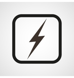 Lightning icon symbol of energy vector
