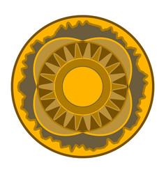 mandala - circular pattern round ornament vector image vector image
