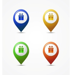 map pointer icons vector image