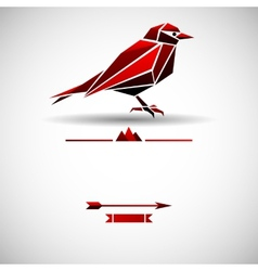 Modern background with triangle bird vector