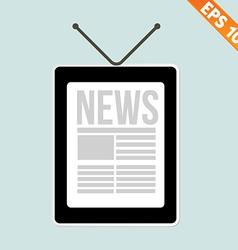 News on tablet - - eps10 vector