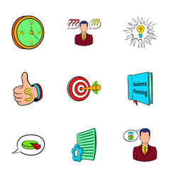Office worker icons set cartoon style vector