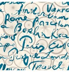 Original inscription of Europe cities vector image vector image