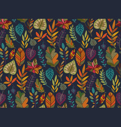 Seamless pattern with autumn nature vector