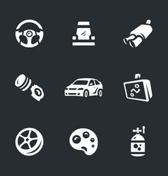 set of auto tuning icons vector image